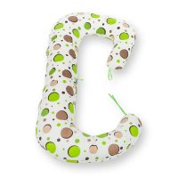 Perna 3 in 1 pentru gravide si bebelusi, BabyNeeds Soft, Bulinute verzi