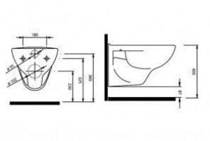 inaltimea vasului de wc
