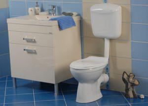 vas wc cu montaj la semi-inaltime