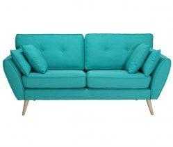Canapea fixa tapitata cu stofa Volex Blue