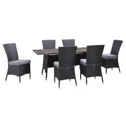 Set 6 scaune si masa deluxe TRENTON
