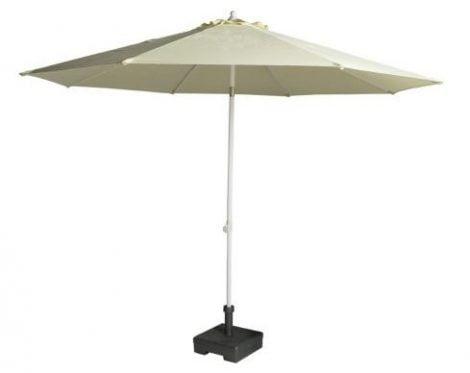 Umbrelele de gradina cu brat de sustinere central