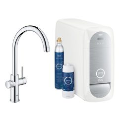 Baterie bucatarie Grohe Blue Home, sistem de filtrare a apei