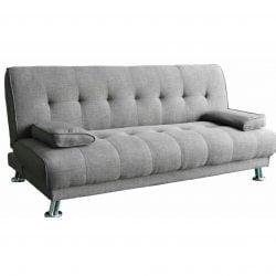 Canapea extensibila 3 locuri Nicoleta, gri deschis