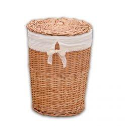 Cos rotund pentru rufe mediu din rachita handmade