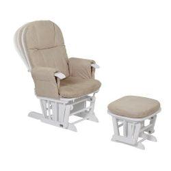 Fotoliu reglabil pentru alaptat cu suport pentru piciore GC 35 White