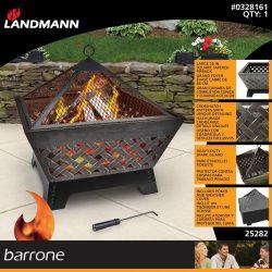 Landmann 25282 Barrone Fire Pit with Weatherproof Cover