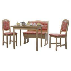 Masa Elvila Oslo Cretone, cu bancheta si 2 scaune