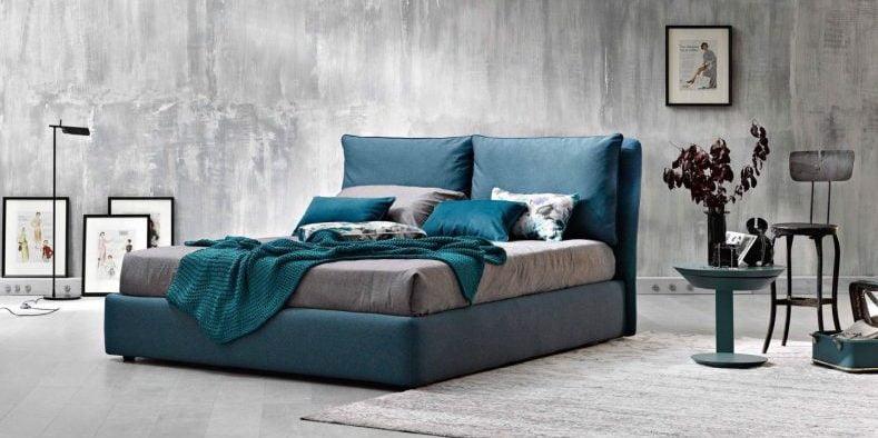 cel mai bun pat tapitat cu stofa