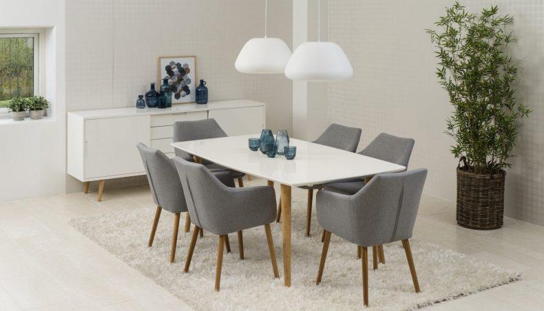scaune moderne tapitate