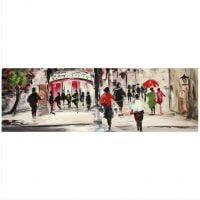 Tablou pictat manual Street Life