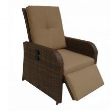 Fotoliu recliner DYLAN, 77x91.5x105 cm , maro/crem