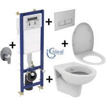 Pachet Complet Sistem WC cu Bideu Suspendat Ideal Standard