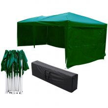 Pavilion de gradina 3x6 m verde, inchidere/deschidere Automata