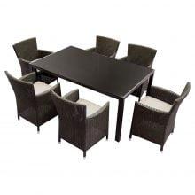 Set mobilier gradina Kring Thomas, masa, 6 scaune