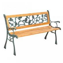 BAN210 - Banca lemn gradina cadru metalic