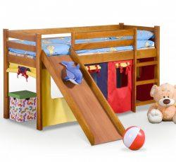 Pat din lemn de pin pentru copii Neo Plus