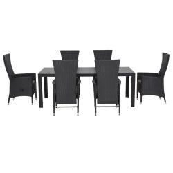 Set 6 scaune spatar reglabil si masa mare ENCORE