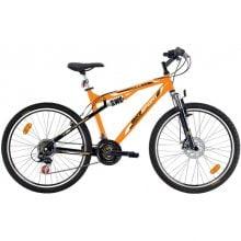 Bicicleta Bikesport Full 26 mango/negru 2014-483 mm