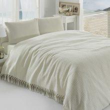 Cuvertură subțire de pat Pique Cream