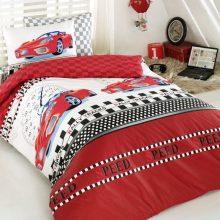 Lenjerie de pat copii Ranforce Ferrari Red