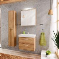Set Mobilier pentru baie, 4 piese, Remik Riviera Oak