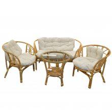 Set masa cu 2 scaune si canapea