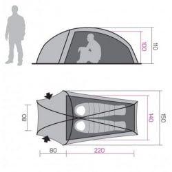 dimensiunea cortului pentru camping